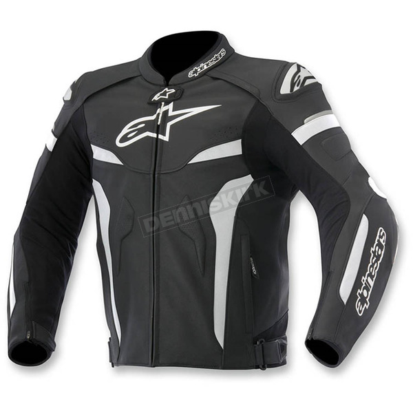 Alpinestars Black/White Celer Leather Jacket - 3105015-12-50