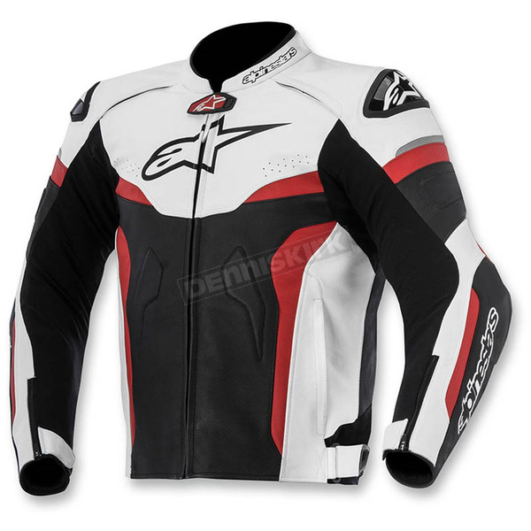 Alpinestars Black/White/Red Celer Leather Jacket - 3105015-123-56