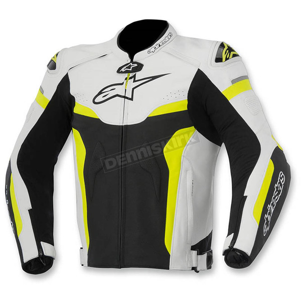Alpinestars Black/White/Yellow Celer Leather Jacket - 3105015-125-56