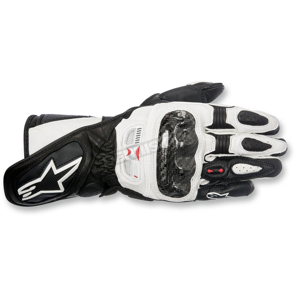 Alpinestars Women's Black/White Stella SP-1 Leather Gloves - 3518115-12-S