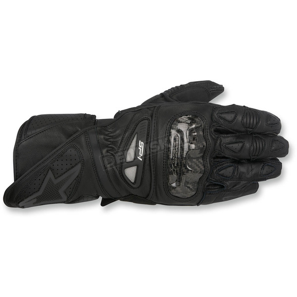 Alpinestars Black SP-1 Leather Gloves - 3558115-1011-2X
