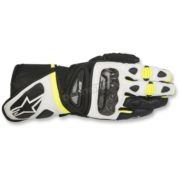 Alpinestars Black/White/Yellow SP-1 Gloves - 3558115-125-2X