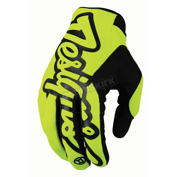 Troy Lee Designs Fluorescent Yellow/Black Pro Gloves - 401003504