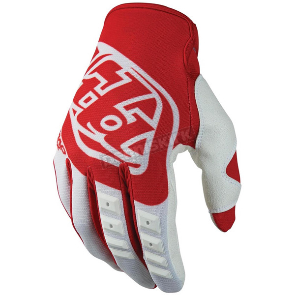 Troy Lee Designs Red/White GP Gloves - 407003406