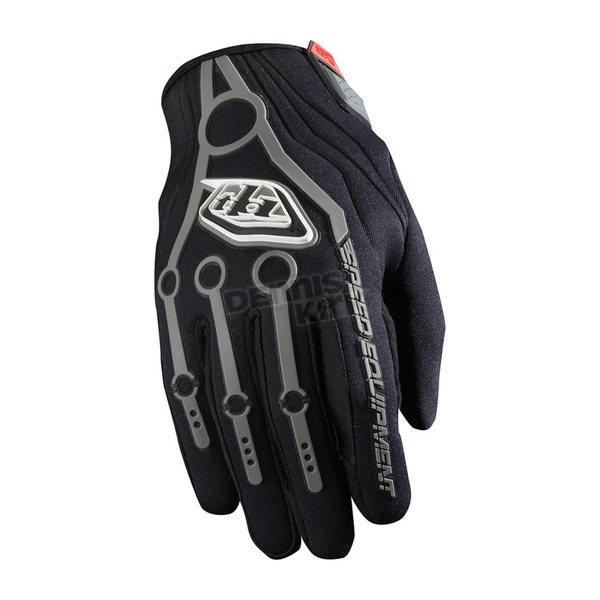 Troy Lee Designs Black/Gray Cold Weather SE Gloves - 431003202