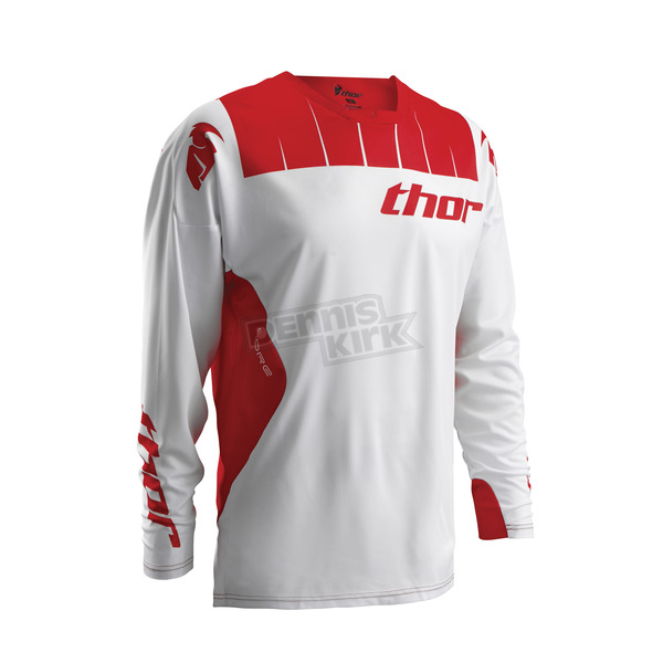 Thor White/Red Core Contro Jersey - 2910-3445