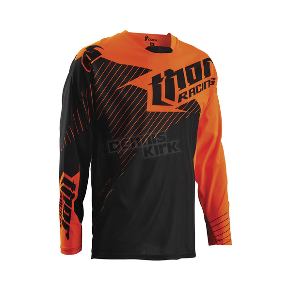 Thor Black/Flo Orange Core Hux Jersey - 2910-3476