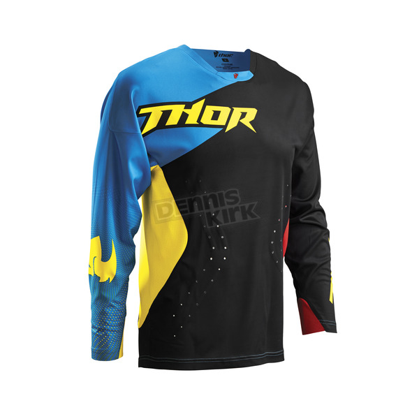 Thor Black/Multi Core Air Divide Jersey - 2910-3486