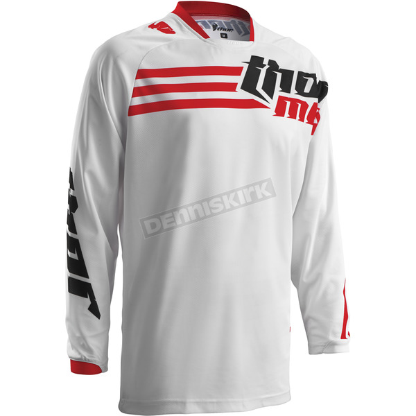 Thor White/Red Phase Strands Jersey - 2910-3545