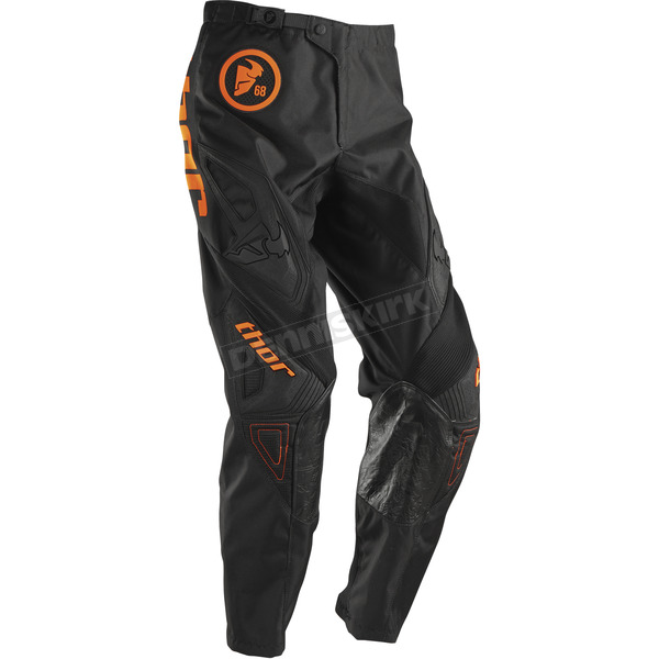 Thor Youth Flo Orange/Black Phase Gasket Pants - 2903-1330