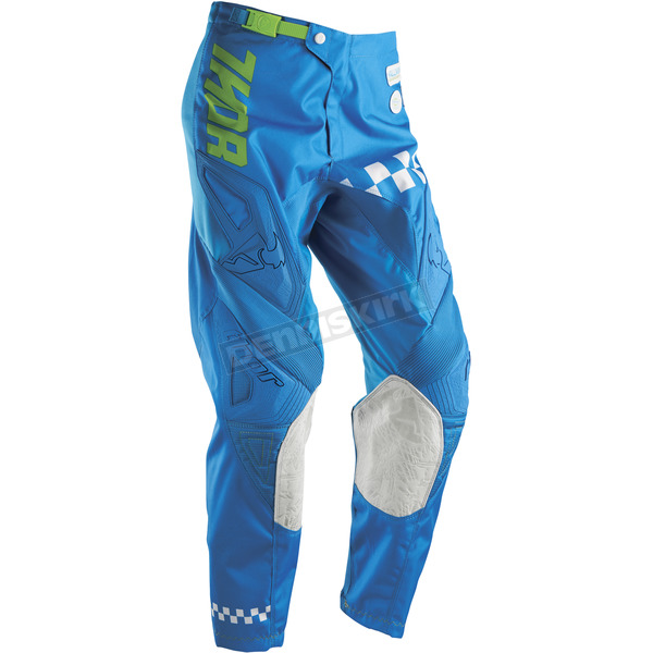 Thor Youth Blue/Green Phase Ramble Pants - 2903-1334