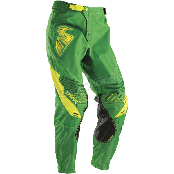 Thor Kelly Green/Yellow Core Contro Pants - 2901-5145