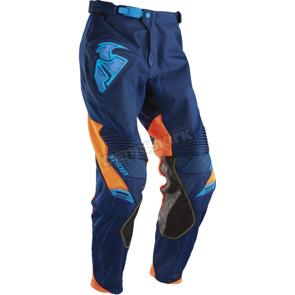 Thor Navy/Flo Orange Core Contro Pants - 2901-5151
