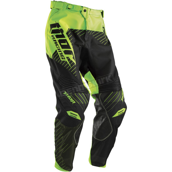 Thor Black/Flo Green Core Hux Pants - 2901-5194