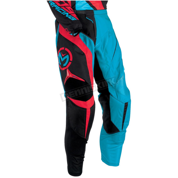 Moose Cyan/Red M1 Pants - 2901-5463