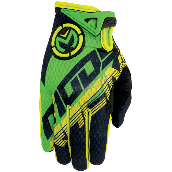 Moose Youth Green/Yellow SX1 Gloves - 3332-0978