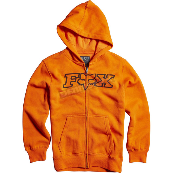 Fox Youth Orange Legacy Zip Hoody - 15996-009-YL