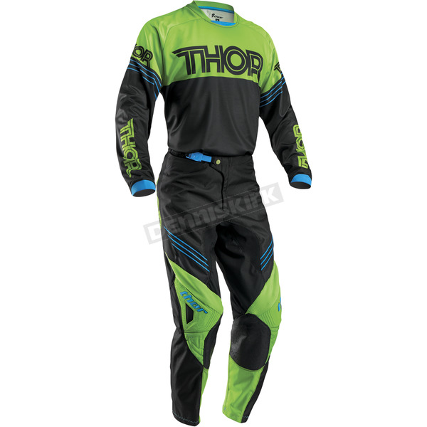 Thor Black/Green Phase Hyperion Jersey - 2910-3763