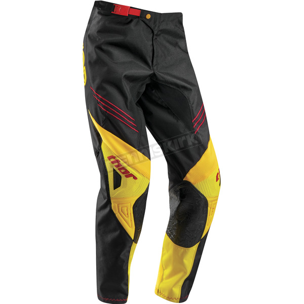Thor Youth Black/Golden Yellow Phase Hyperion Pants - 2903-1393