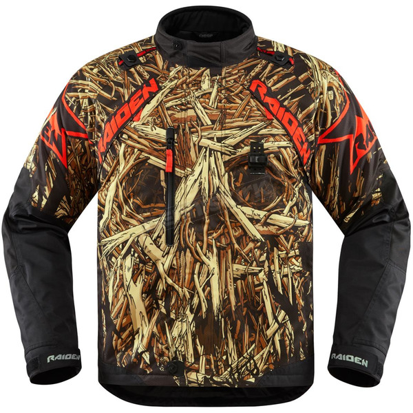 Icon - Raiden Black DKR Splintered Jacket - 2820-3482