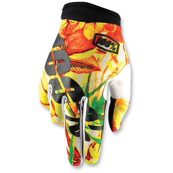 100% Paradise Orange I-Track Gloves - 10002-131-13