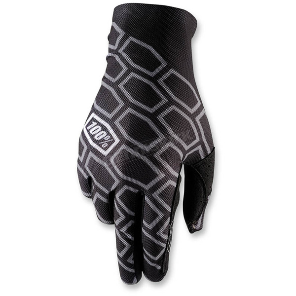 100% Timing Black Celium Gloves  - 10005-011-13