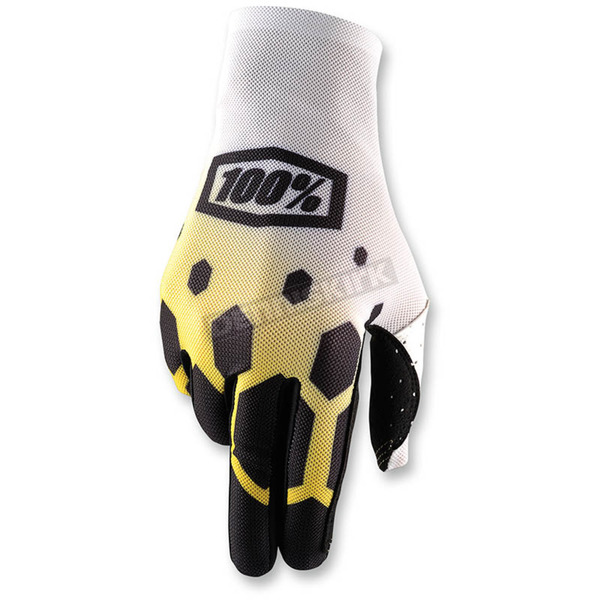 100% Legacy Yellow Celium Gloves - 10005-144-11
