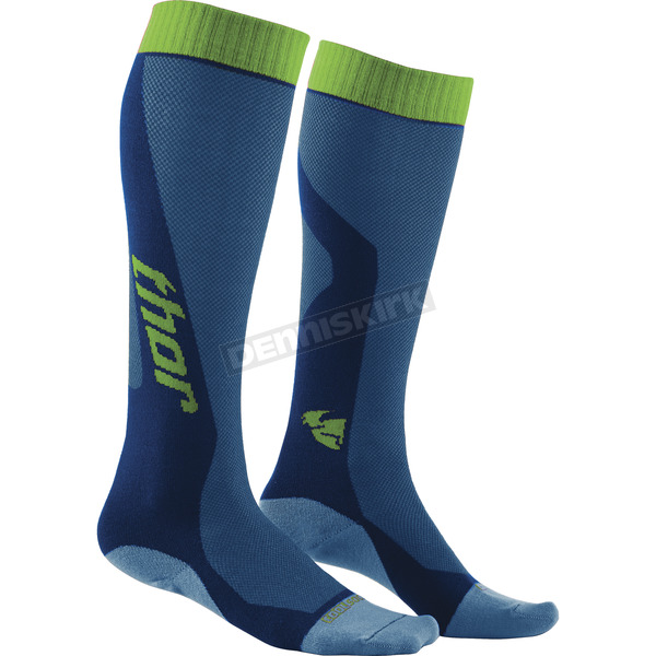 Thor Blue/Green MX Cool Socks - 3431-0271