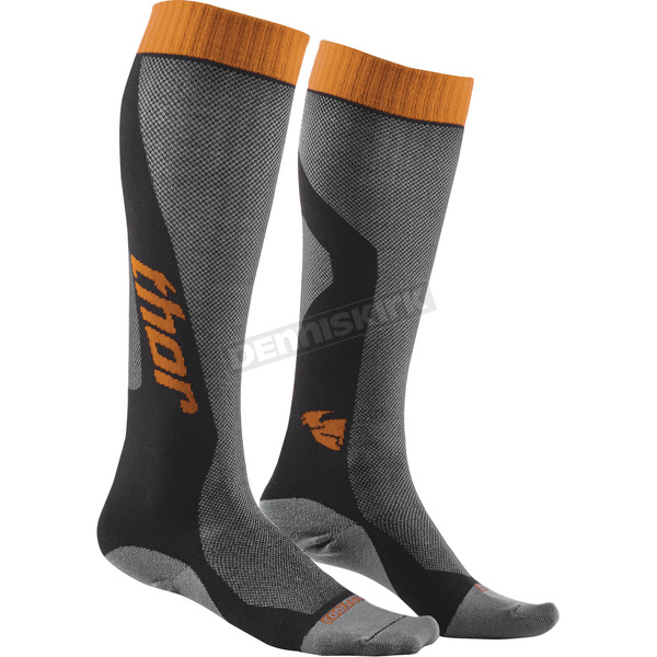 Thor Gray/Orange MX Cool Socks - 3431-0276