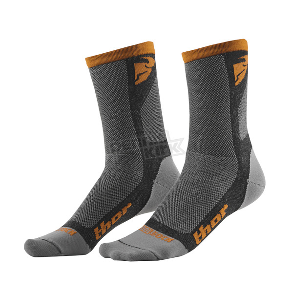 Thor Gray/Orange Dual Sport Cool Socks - 3431-0284