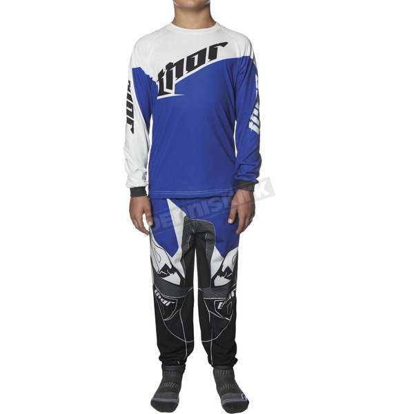 Thor Youth Blue/White Tilt Pajamas - 3070-0918