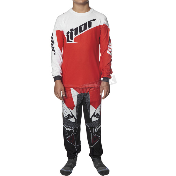 Thor Youth Red/White Tilt Pajamas - 3070-0920