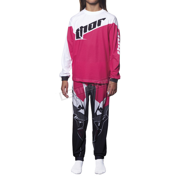 Thor Girls Magenta/White Tilt Pajamas - 3070-0923