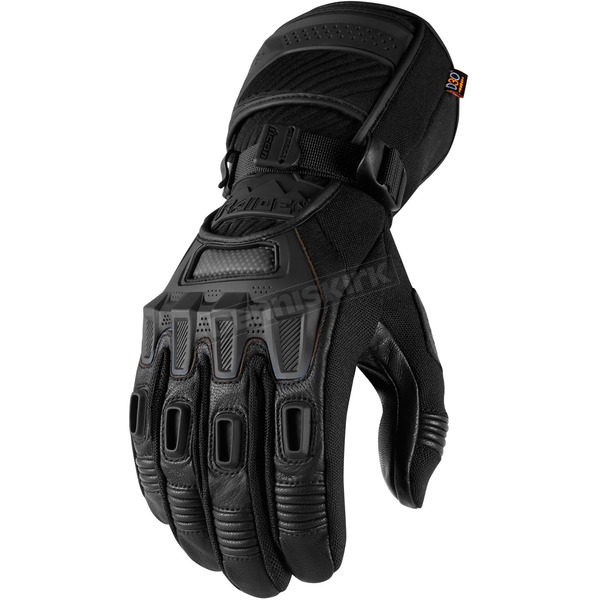 Icon - Raiden Black Alcan Gloves - 3301-2642