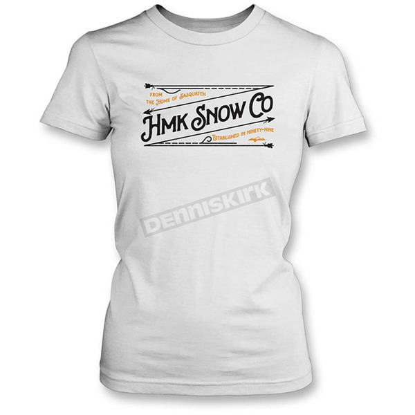 HMK Women's White Stitch T-Shirt - HM2SSTSTIWWS
