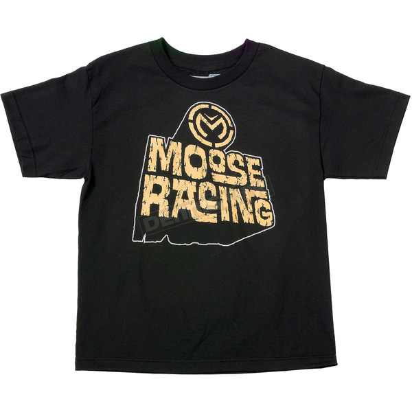 Moose Youth Black Escarpment T-Shirt - 3032-2164
