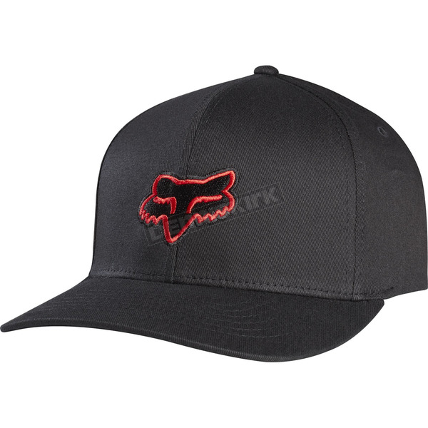 Fox Youth Black/Red Legacy Flexfit Hat - 58231-017-OS