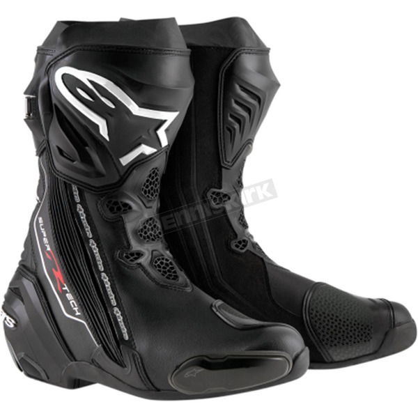 Alpinestars Black Supertech R Boots - 2220015-100-40