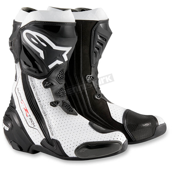 Alpinestars Black/White Supertech R Boots - 2220015-122-47