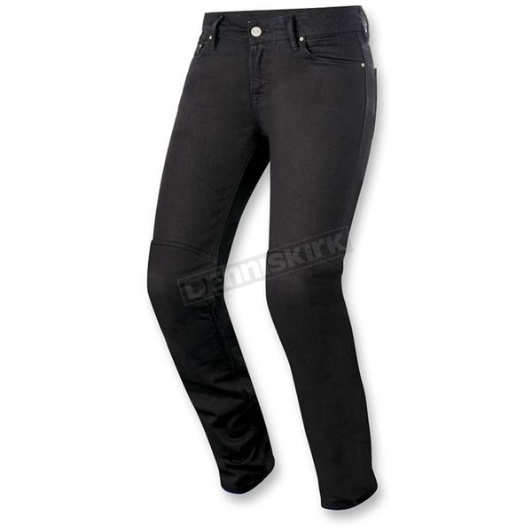 Alpinestars Women's Black Daisy Denim Pants - 3338516-10-32