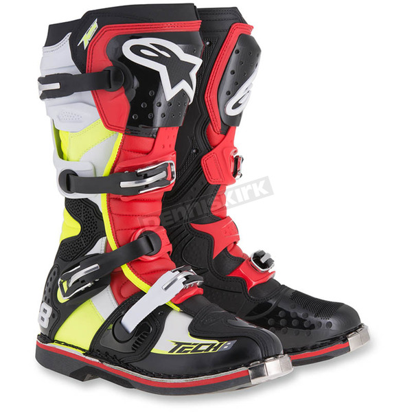 Alpinestars Black/Red/Yellow Tech 8 RS Boot - 2011015-1362-6