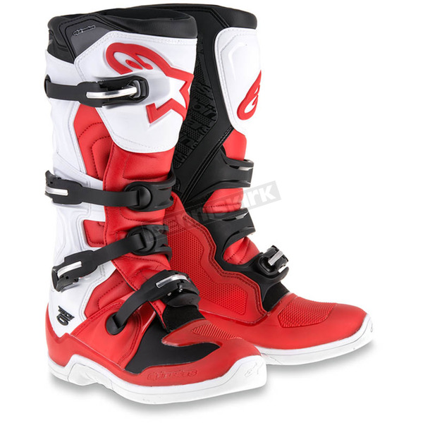 Alpinestars Red/White/Black Tech 5 Boots - 2015015-321-11