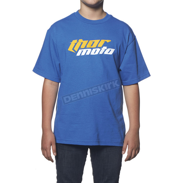 Thor Youth Blue Total Moto T-Shirt - 3032-2206