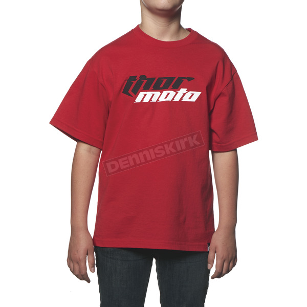 Thor Youth Red Total Moto T-Shirt - 3032-2207