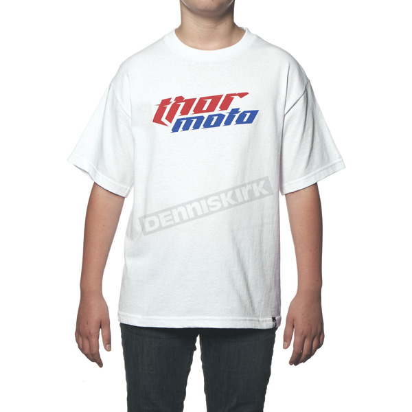 Thor Youth White Total Moto T-Shirt - 3032-2212