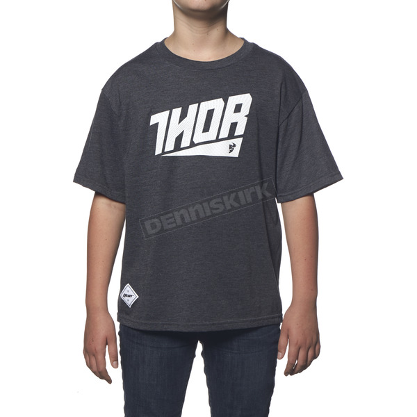 Thor Youth Charcoal Heather Ascent T-Shirt - 3032-2261