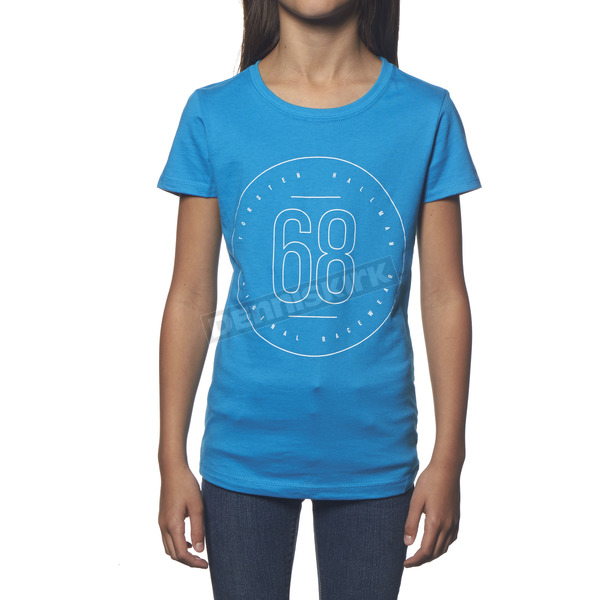 Thor Girls Turquoise Button T-Shirt - 3032-2330