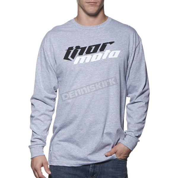 Thor Gray Heather Total Moto Long Sleeve Tee - 3030-12492