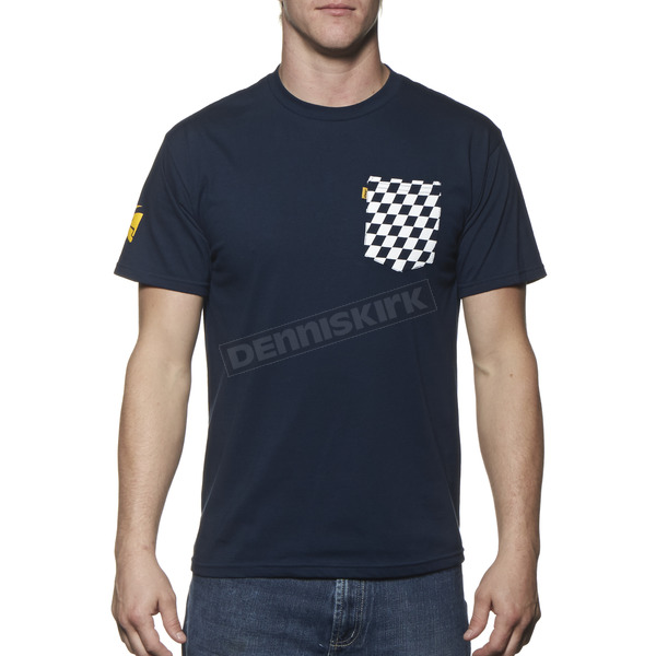 Thor Navy Chex Pocket T-Shirt - 3030-12547