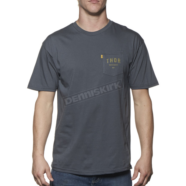Thor Charcoal Shop Pocket T-Shirt - 3030-12558